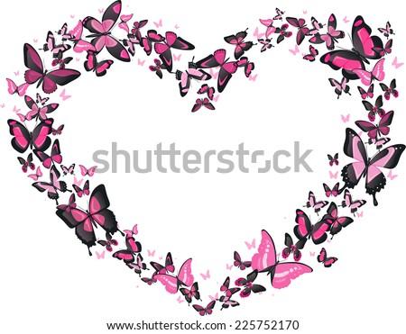 heart shaped butterfly flight