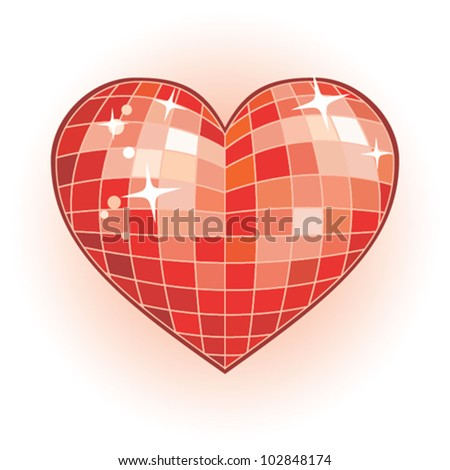 Heart Shaped Disco Ball