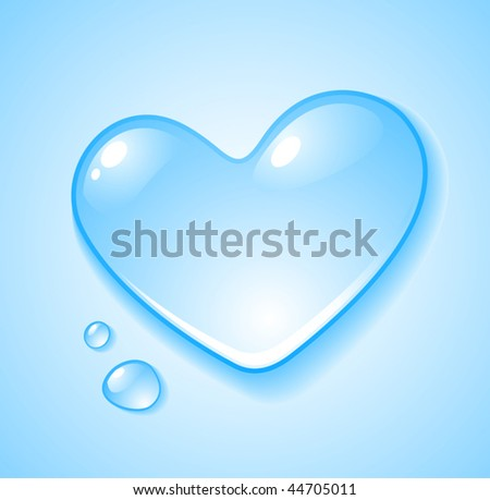heart shaped droplet   vector