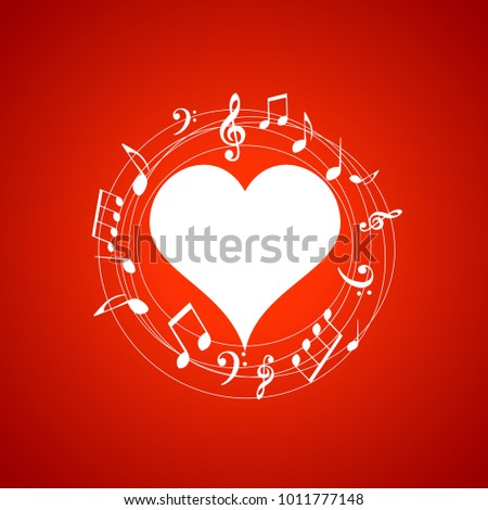 heart shaped frame with music