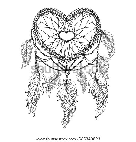heart shaped hand drawn dream