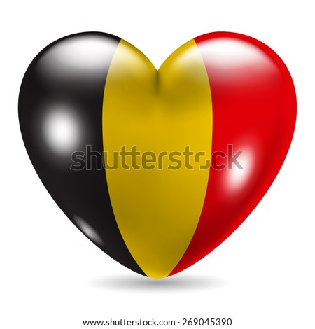 heart shaped icon with flag of