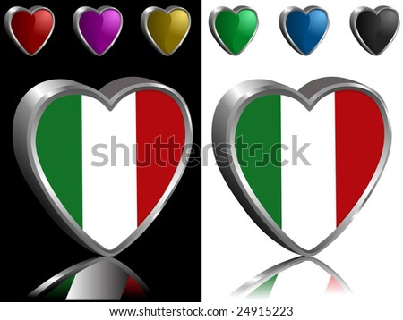 Charm watch of vector illustration of italy Green italian flag first tattoo