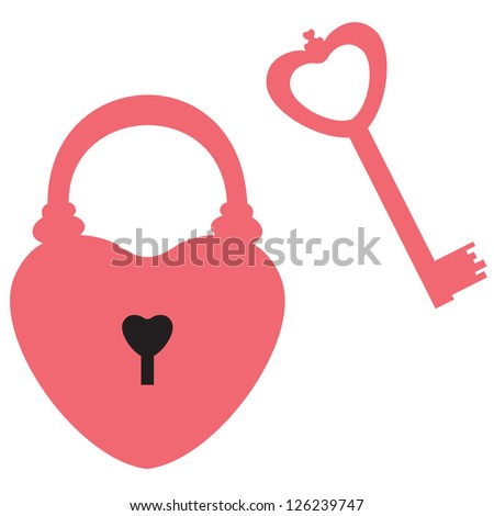 heart shaped lock and key to it