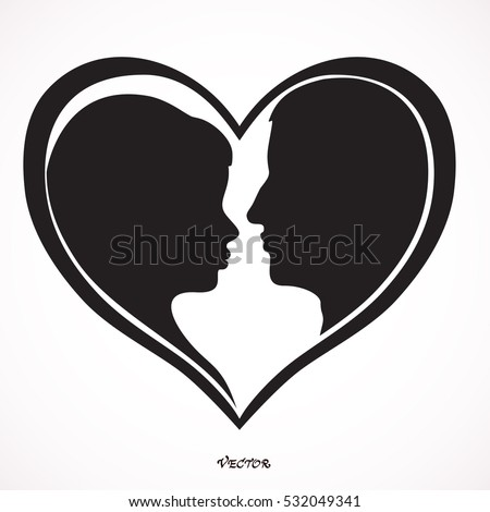 heart shaped portrait of young