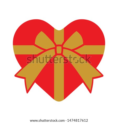 heart shaped present with