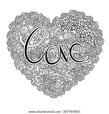 heart shaped vector floral