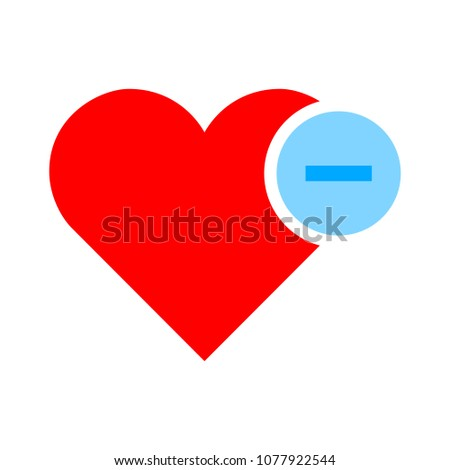 Heart sign icon. Remove lover symbol