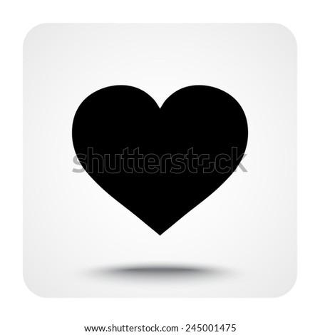 heart sign icon  vector