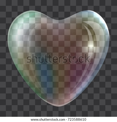 heart soap bubble concept