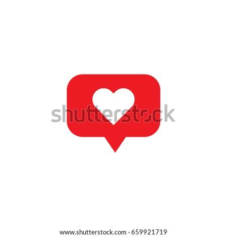 Heart social media notification.