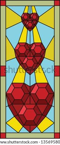 Heart / stained glass