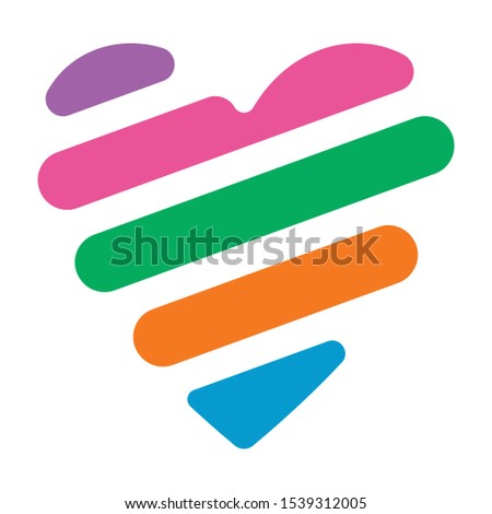heart symbol from colorful symbol. vector heart symbol