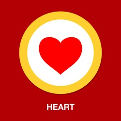 heart symbol icon. Simple element illustration. heart concept symbol design. Can be used for web and mobile UI/UX