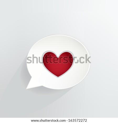heart symbol speech bubble