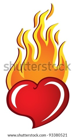 heart theme image 2   vector