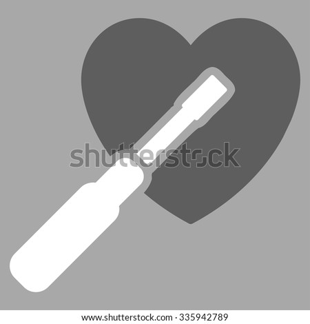 heart tuning vector icon style