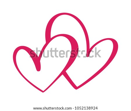 heart two love sign icon on