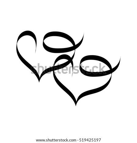 heart two ribbon romantic love