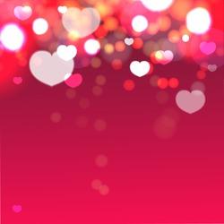 Heart valentine light vector background