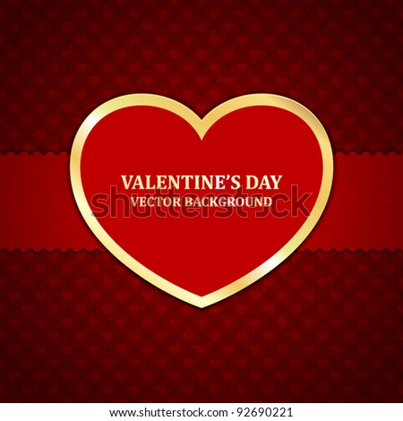 Heart Valentines day card vector background eps 10
