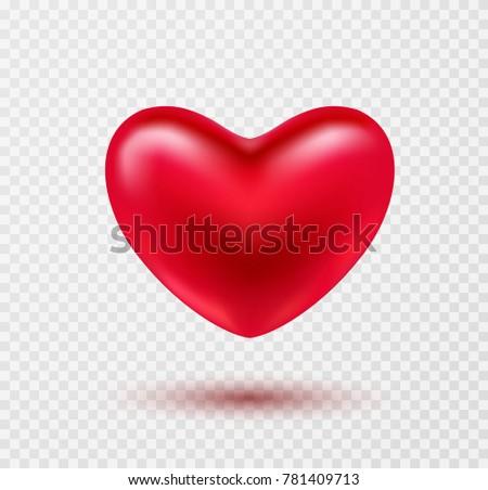 heart valentines red ballon