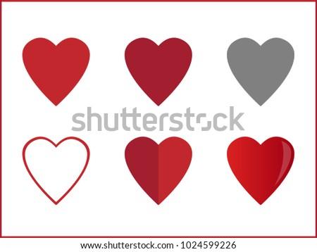 Heart Various Heart Symbols Valentine Heart Ez Canvas