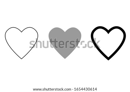 Heart vector collection. Love symbol icon set. Vector illustration