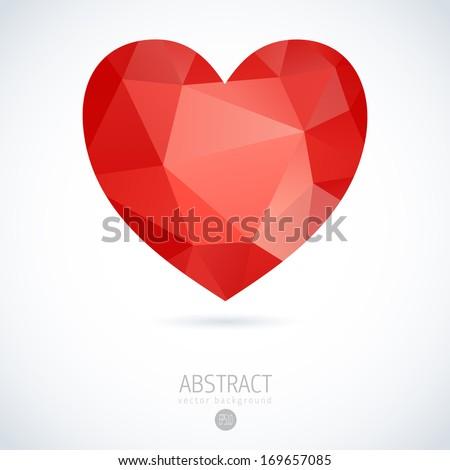 heart vector geometric mosaic