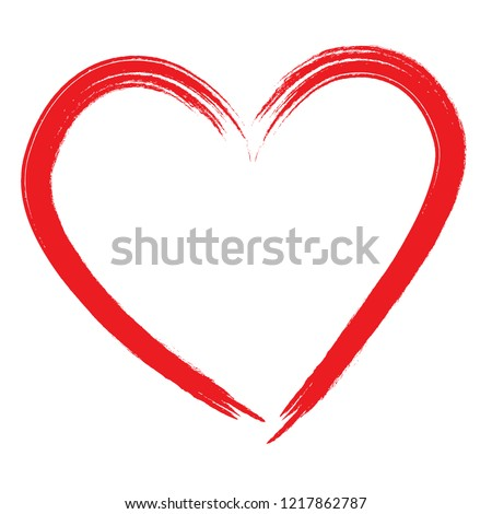 Heart vector. Hand drawn icon. Trendy heart isolated on white background. Useful for web site, greeting card and Valentine's day. Creative art sketch, modern concept. Vector illustration