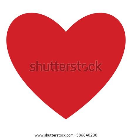Heart vector icon.