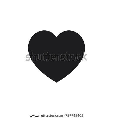 heart vector icon, love icon