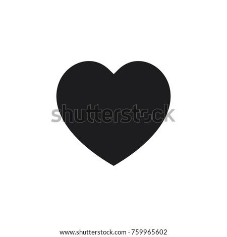 heart vector icon, love icon
