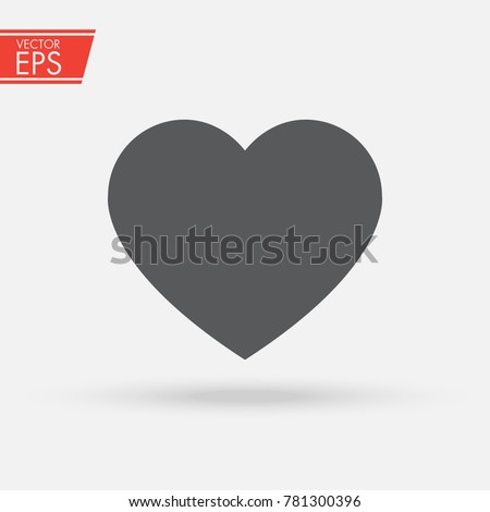 Heart vector icon, Love symbol. A symbol of care and tenderness. Valentine's Day sign, emblem isolated on white background. Health logo. Flat style for graphic and web design, logo.