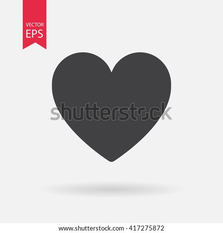 heart vector icon  love symbol