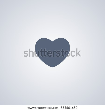Heart vector icon, love vector icon