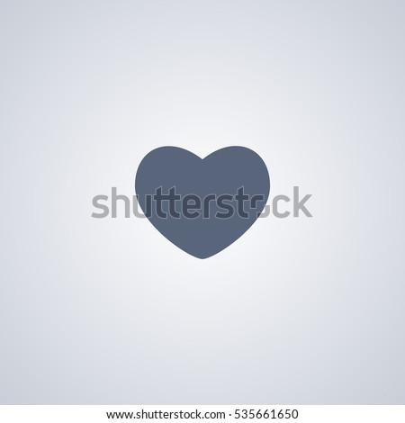 Heart vector icon, love vector icon