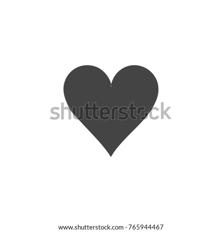 Heart vector icon on white background