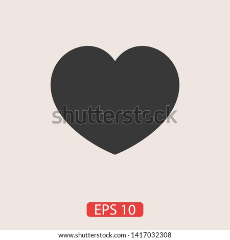 Heart vector icon, Symbol of Love and Valentine's Day. Social love heart icon. Heart icon - Perfect Love symbol. Vector EPS 10