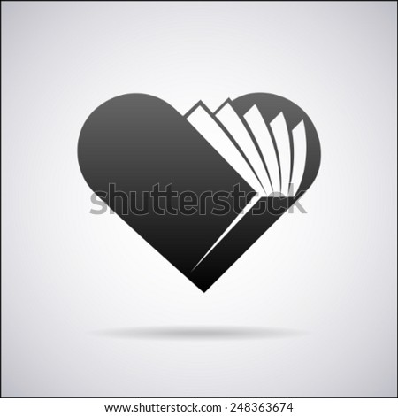 heart vector logo design