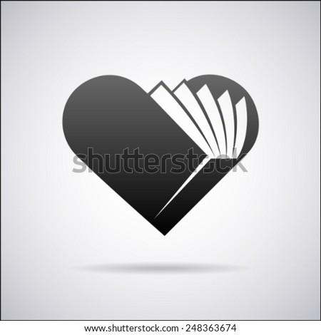 heart vector logo design