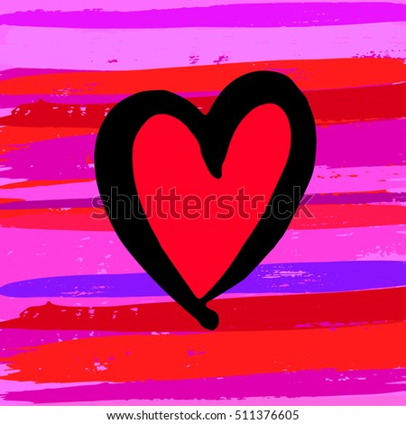 heart vector red day symbol