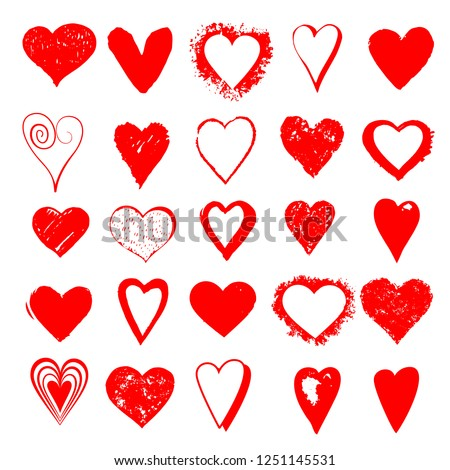 heart vector set for love and