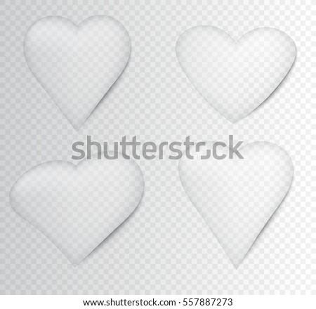 heart water drops setvector
