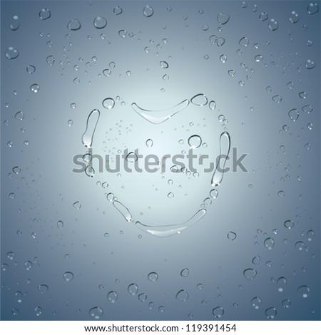 heart water drops vector