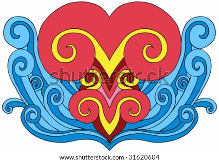 tattoo wave. Heart Wave Tattoo Element