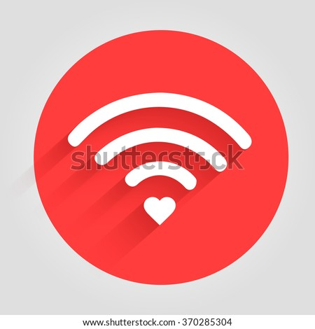 heart wifi vector heart