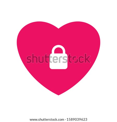 heart with a lock symbol of