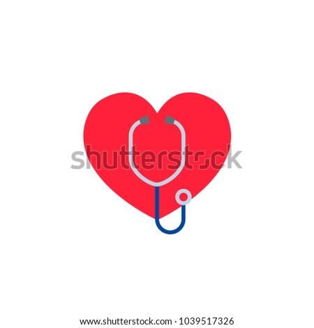 heart with a stethoscope logo