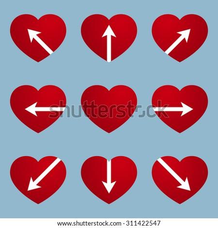 heart with arrow design  love